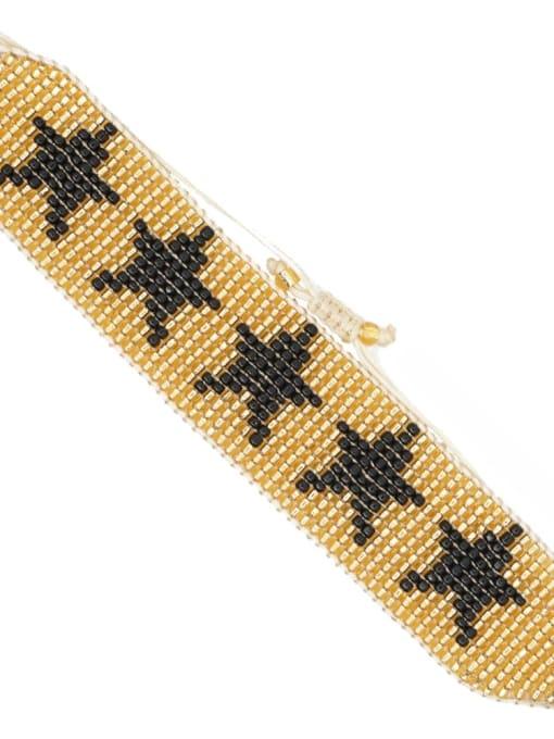 Roxi Multi Color Geometric Miyuki DB Bead Bohemia Handmade Weave Bracelet 0