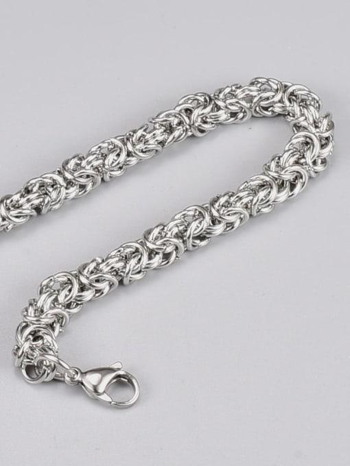 A TEEM Titanium Steel Irregular Hip Hop Link Bracelet 2