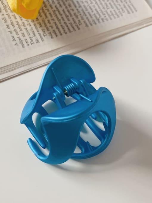Blue 6cm Alloy Resin Minimalist Irregular Jaw Hair Claw