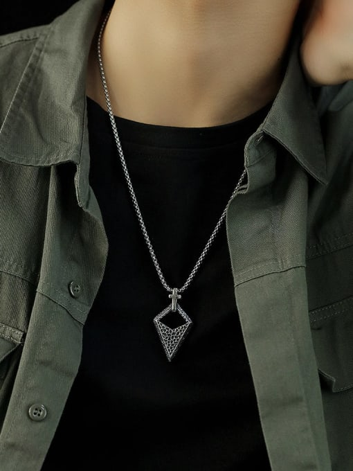 Open Sky Stainless steel  Triangle Hip Hop Pendant 1
