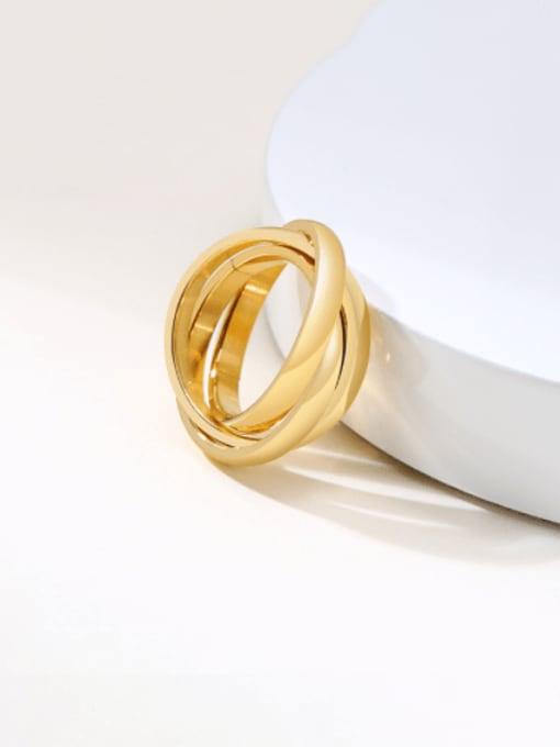 Style 5 5 -1#- Titanium Steel Geometric Minimalist Stackable Ring