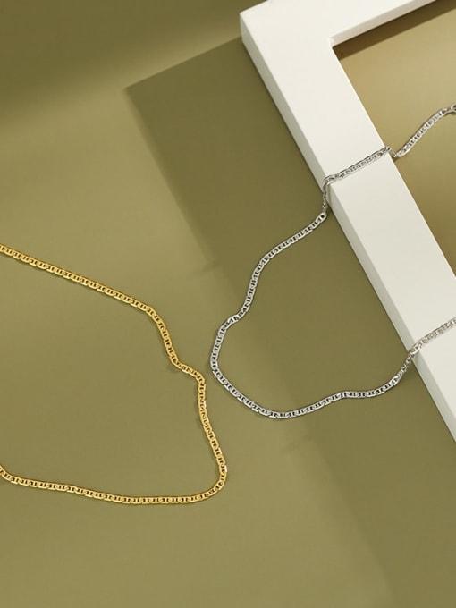 Dak Phoenix 925 Sterling Silver Flat Pig nose chain Vintage Necklace 4