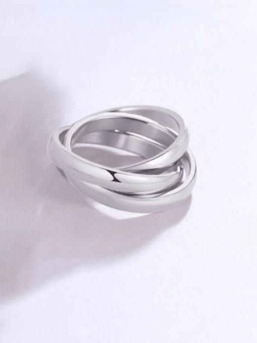 Style 4   6 -10# Titanium Steel Geometric Minimalist Stackable Ring