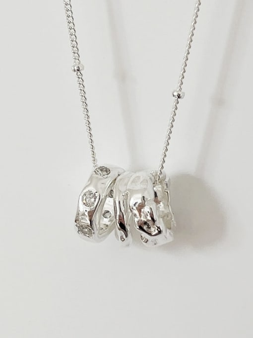 Boomer Cat 925 Sterling Silver Geometric Vintage Necklace 0