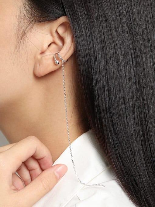 DAKA 925 Sterling Silver Tassel Minimalist Single Earring 2