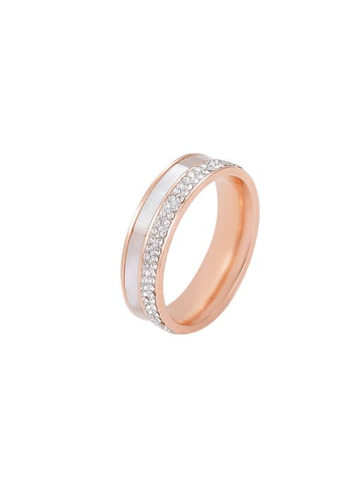 MIYA Titanium Steel Shell Round Minimalist Band Ring 1