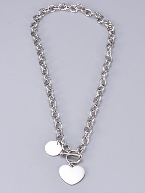 A TEEM Titanium Heart Vintage Hollow  Chain  Necklace 2