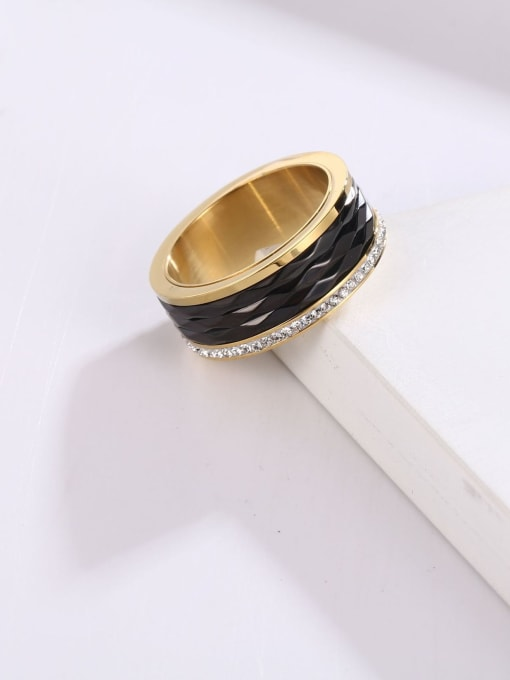 MIYA Titanium Steel Enamel Round Minimalist Band Ring 1