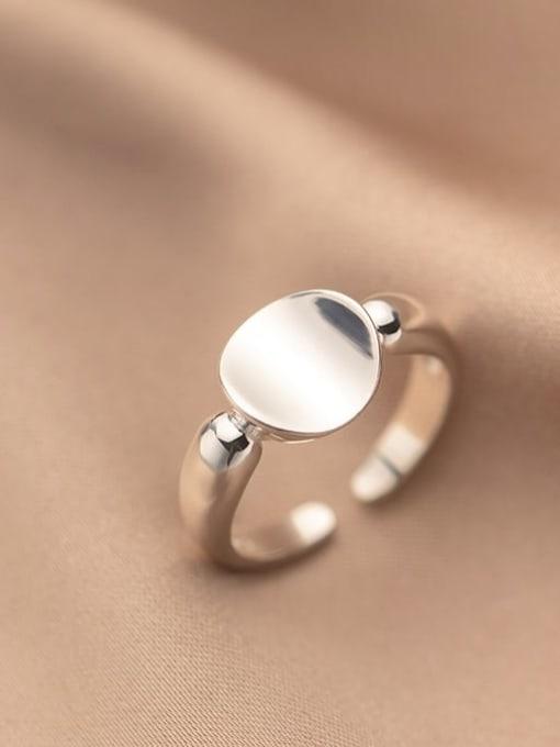 Rosh 925 Sterling Silver Geometric Minimalist Band Ring