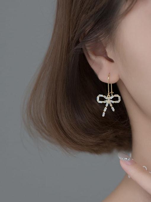 Rosh 925 Sterling Silver Cubic Zirconia Butterfly Vintage Hook Earring 1