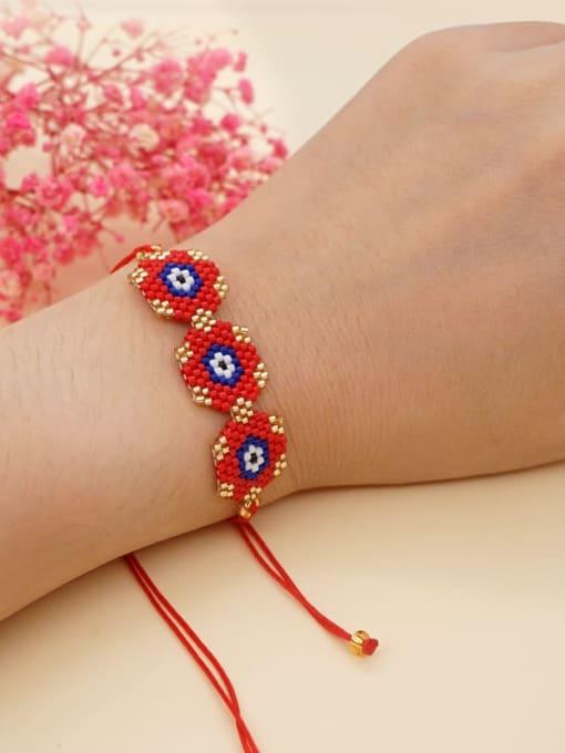 Roxi Multi Color Miyuki DB  Bead Geometric Bohemia Adjustable Bracelet 1