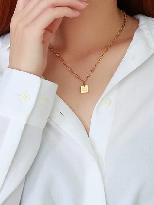 CONG Titanium Steel Geometric Vintage Necklace 2