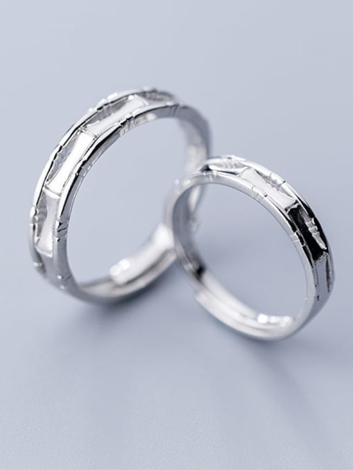 Rosh 925 Sterling Silver Round Minimalist  Free Size  Ring 1