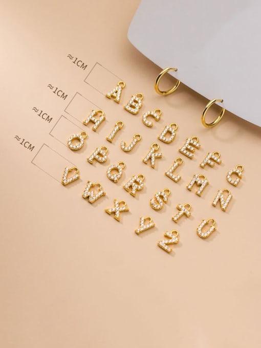 Rosh 925 Sterling Silver Cubic Zirconia Letter Minimalist Single Earring 1