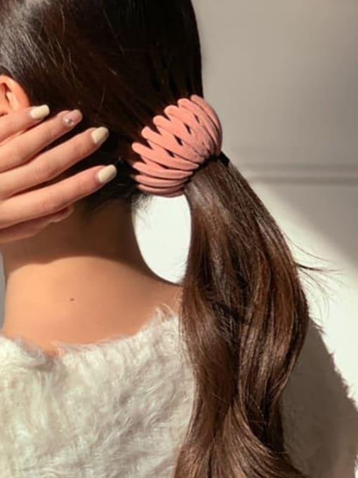 Chimera Flocking hair clip Ball head Horsetail Hair Ring 1