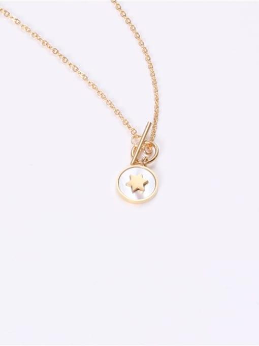 GROSE Titanium Steel Shell Round Minimalist Necklace 2