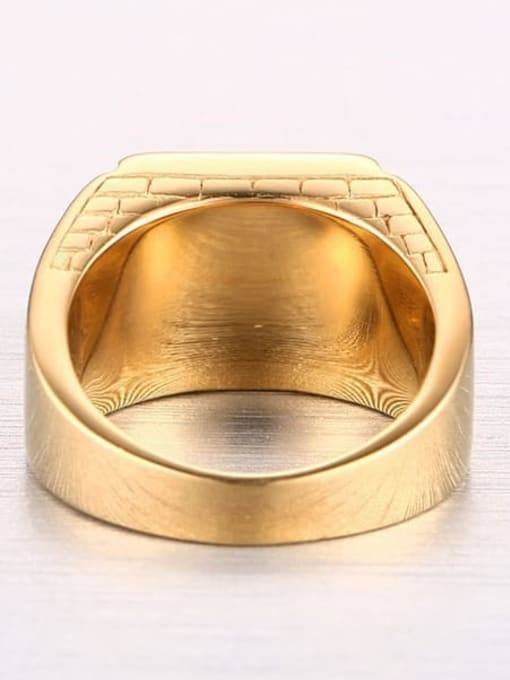 CONG Stainless steel Enamel Geometric Vintage Band Ring 4