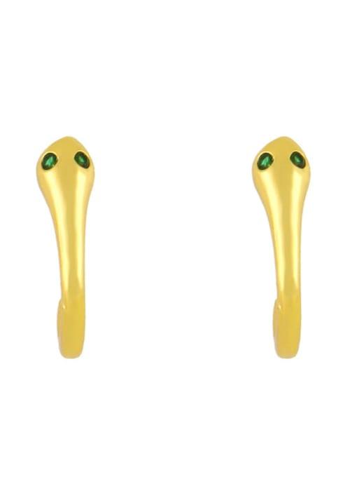 CC Brass Cubic Zirconia Smiley Vintage Stud Earring 4