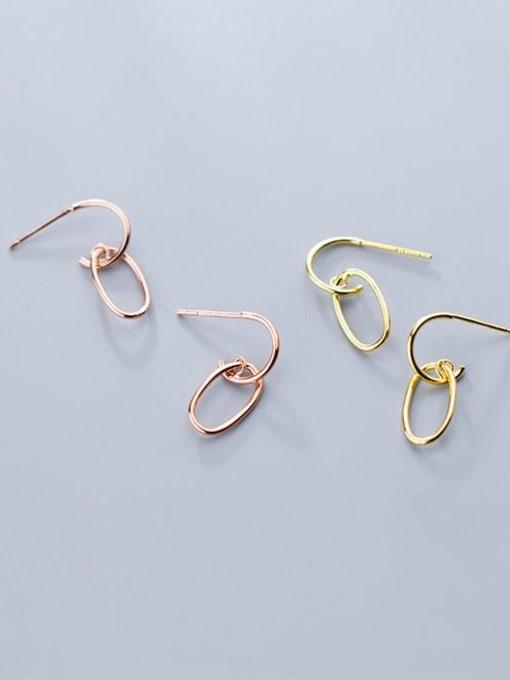 Rosh 925 Sterling Silver Geometric Minimalist Stud Earring 1