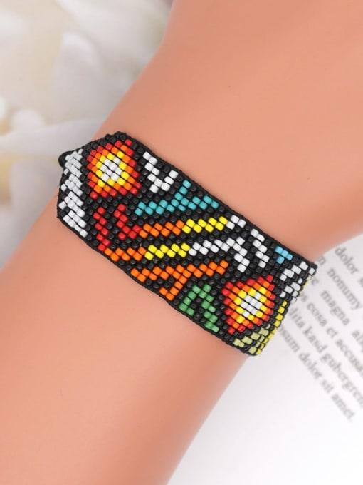 Roxi Multi Color MGB Bead Geometric Bohemia Handmade Weave Bracelet 1