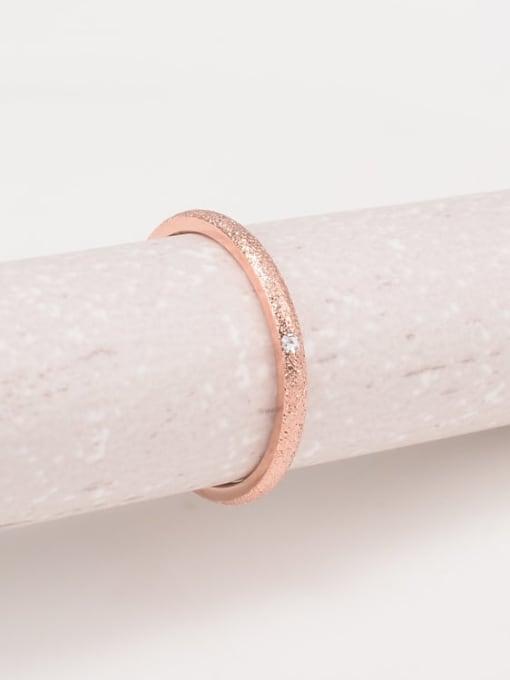 A TEEM Titanium Steel Rhinestone Round Minimalist Band Ring 0