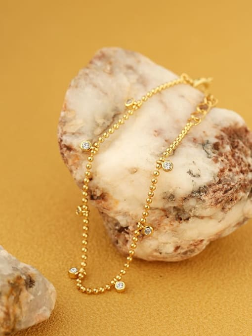CHARME Brass Bead Geometric Minimalist Beaded Bracelet 1