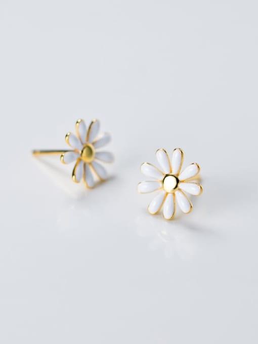Rosh 925 Sterling Silver Enamel Flower Minimalist Stud Earring 3