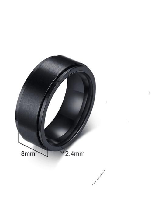 CONG Titanium Steel Round Minimalist Band Ring 3
