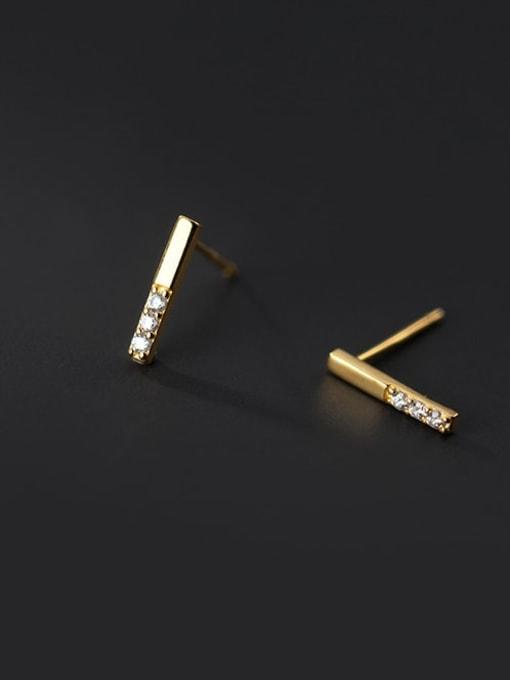 Rosh 925 Sterling Silver Cubic Zirconia Geometric Minimalist Stud Earring 4