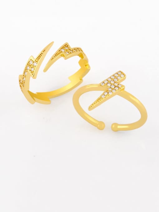 CC Brass Cubic Zirconia Irregular Dainty Band Ring