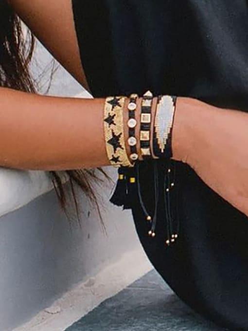 Roxi Multi Color Geometric Miyuki DB Bead Bohemia Handmade Weave Bracelet 1