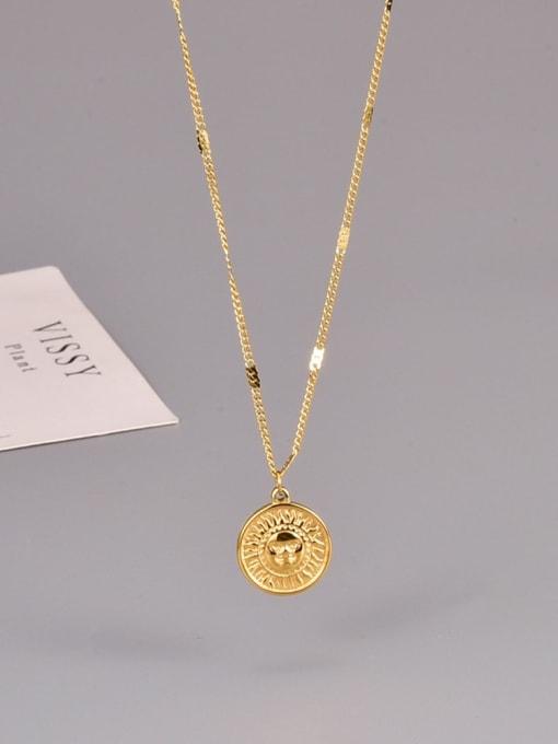 A TEEM Titanium Steel Sun Smiley Minimalist Necklace 1