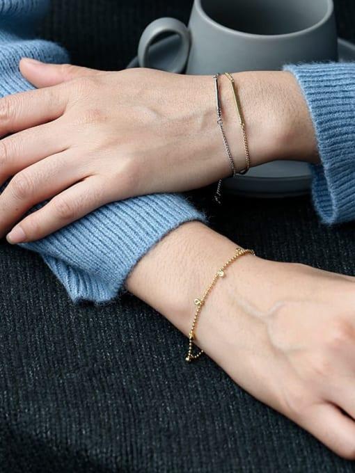 CHARME Brass Bead Geometric Minimalist Beaded Bracelet 3