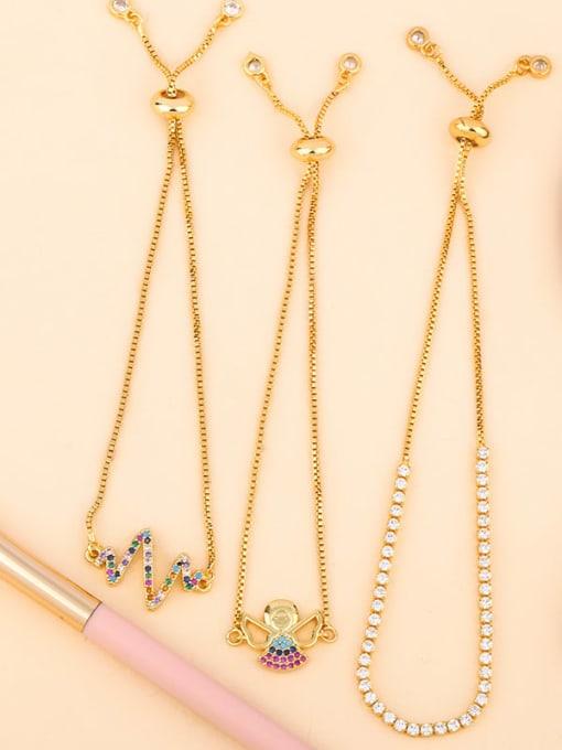 CC Brass Cubic Zirconia Turtle Cute Link Bracelet 3