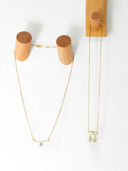 CC Brass Cubic Zirconia Heart Cute  Boy Girl Pendant Necklace 3