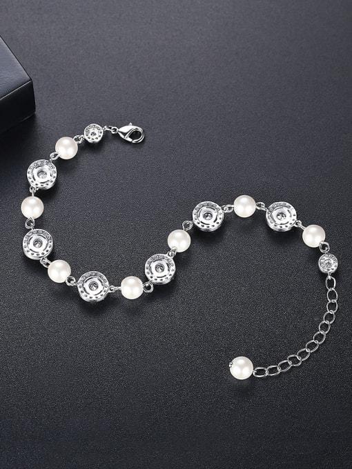 BLING SU Brass Cubic Zirconia Geometric Luxury Bracelet 2