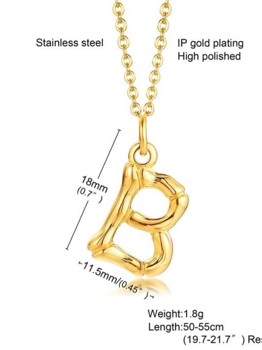 CONG Titanium Steel  26 Letter Minimalist  Pendant Necklace 1