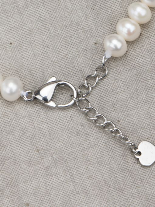 RAIN Brass Freshwater Pearl Round Minimalist Necklace 3