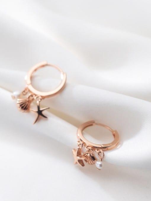 Rosh 925 Sterling Silver Star Cute Huggie Earring 2
