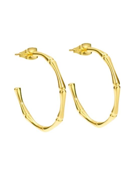 CHARME Brass Geometric Minimalist Hoop Earring 4