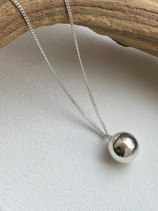 Boomer Cat 925 Sterling Silver  Smooth Bell Minimalist Necklace