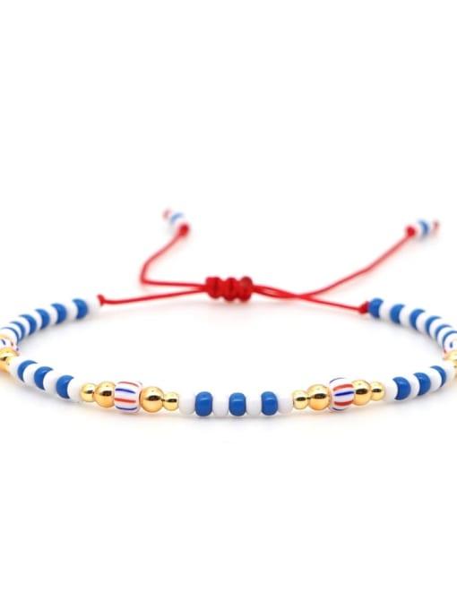 QT B200031E Stainless steel Miyuki beads Multi Color Geometric Bohemia Adjustable Bracelet