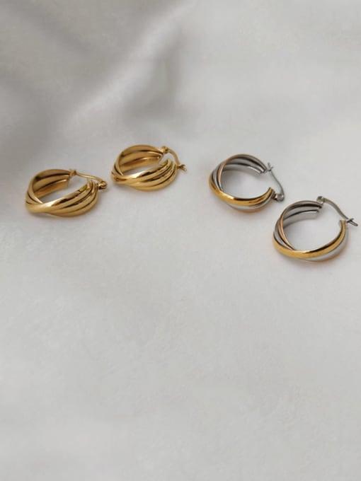 CONG Titanium Steel Geometric Minimalist Hook Earring 2