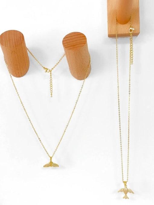 CC Brass Cubic Zirconia Fish Vintage Necklace 3