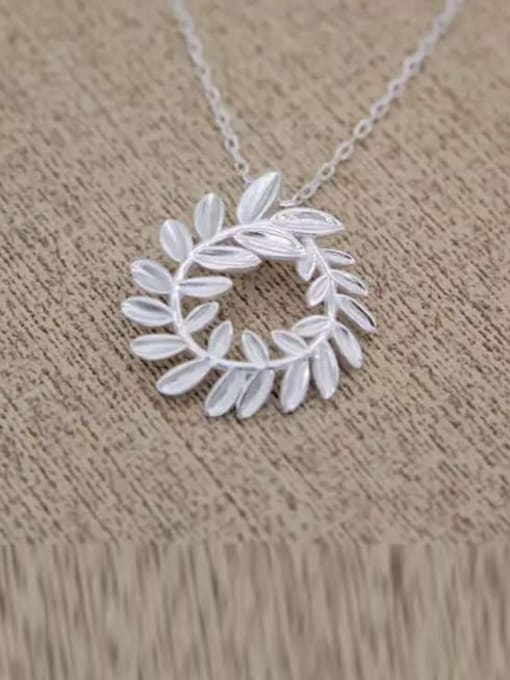 Rosh 925 Sterling Silver Hollow Leaf Minimalist Necklace 1