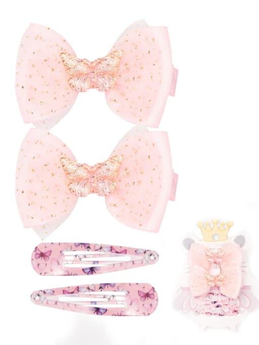 2 fairy powder butterfly suit Alloy Yarn Cute Bowknot  Multi Color Hair Barrette