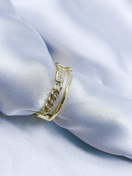 MIYA Titanium Steel Irregular Minimalist Stackable Ring 0