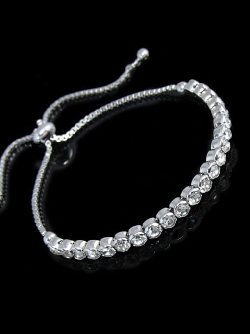 CC Alloy Cubic Zirconia Geometric Bohemia Adjustable Bracelet 0