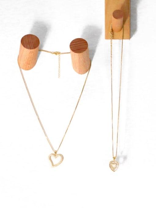 CC Brass Cubic Zirconia Heart Minimalist Necklace 3