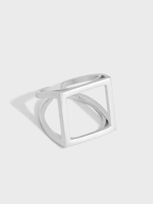 DAKA 925 Sterling Silver Hollow Geometric Ethnic Band Ring 4
